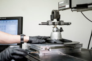 Profilometry quality inspection of metal component